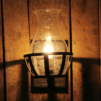 Vintage Bubble Glazen Vaas Vorm E14 Lamp Wandkandelaar Lamp Home Deco Retro Slaapkamer Bed Zwart Ijzeren Muur Lichtpunt