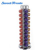 Sweettreats Nespresso Coffee Capsules Holder Carousel. Holds 40 Nespresso Pods Coffee Capsules Stand Coffee Racks