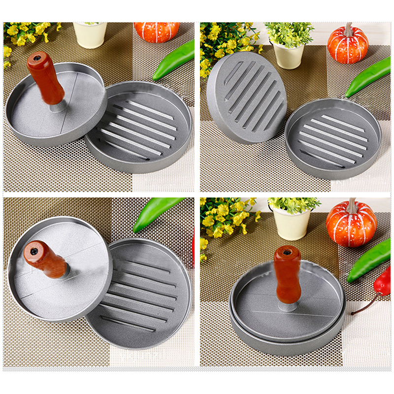 Non Stick Stainless Steel single Hamburger Presse Patties Pizza Burger Mold Maker Kitchen meat poultry Cooking Tools Gadgets in Patty Makers from Home Garden