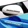 12 см mazdaspeed Письма Hellaflush Автомобилей Стайлинг Светоотражающие Винил Наклейки Внешние Наклейки для Mazda Зеркало Заднего Вида Обработки Стекла