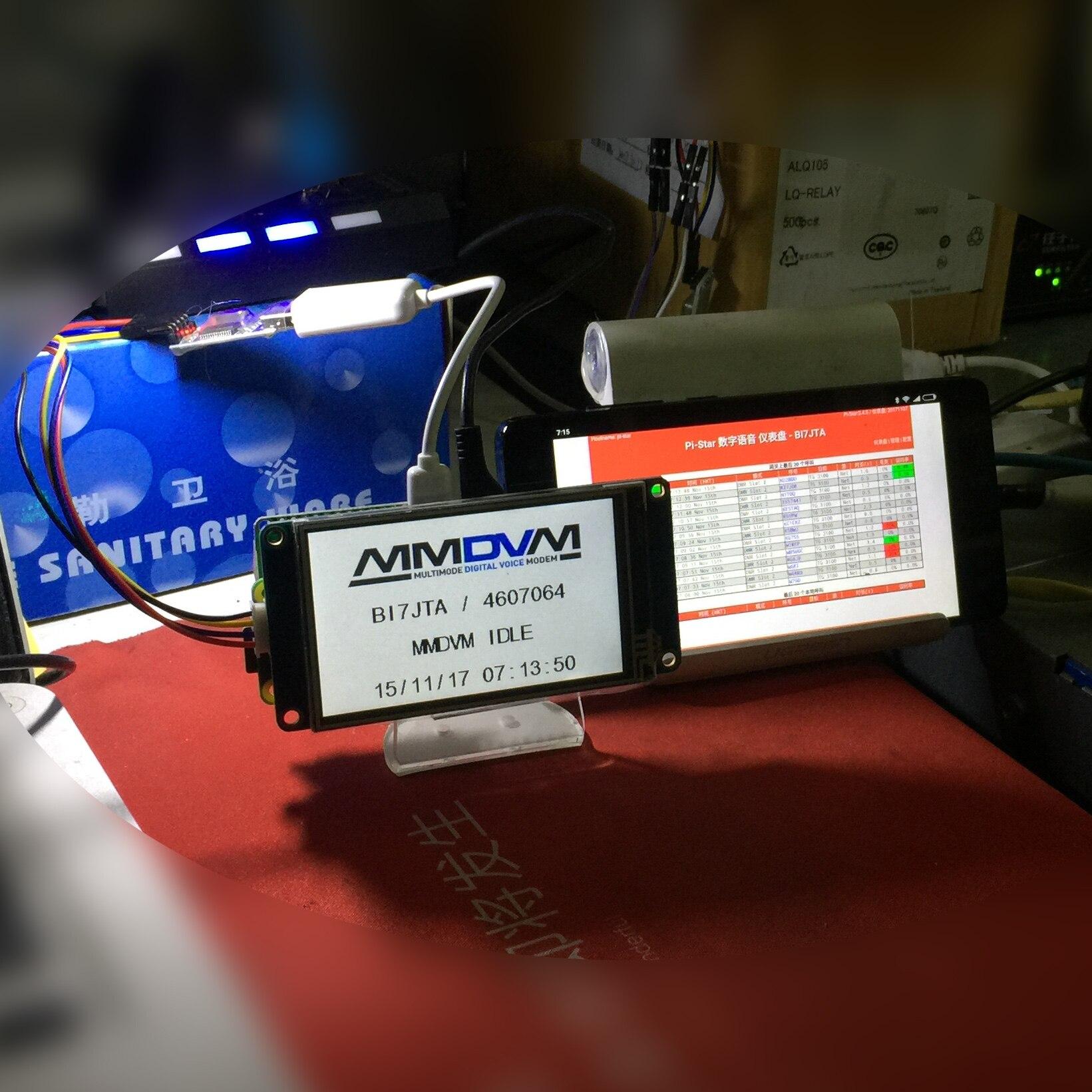 3,2 дюймов Экран Nano mmdvm Hotspot nanopi NEO HAM DIY Kit Поддержка P25  DMR