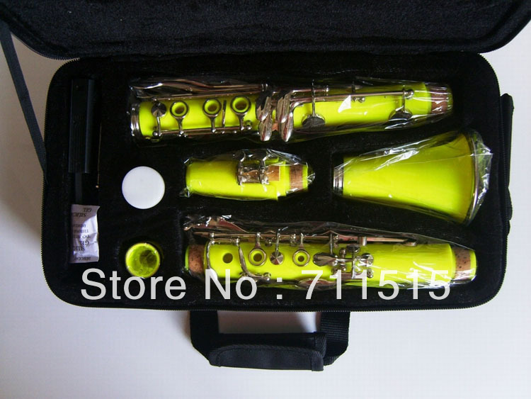 clarinete 17 key bakelite buffet clarinet in B flat surface of yellow with klarnet case мистерия buffet красная