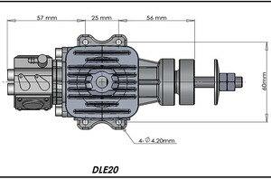 Image 4 - オリジナルdle 20 20CCオリジナルガスエンジンガソリン 20CCエンジンラジコン飛行機モデルホット販売、DLE20CC、DLE20