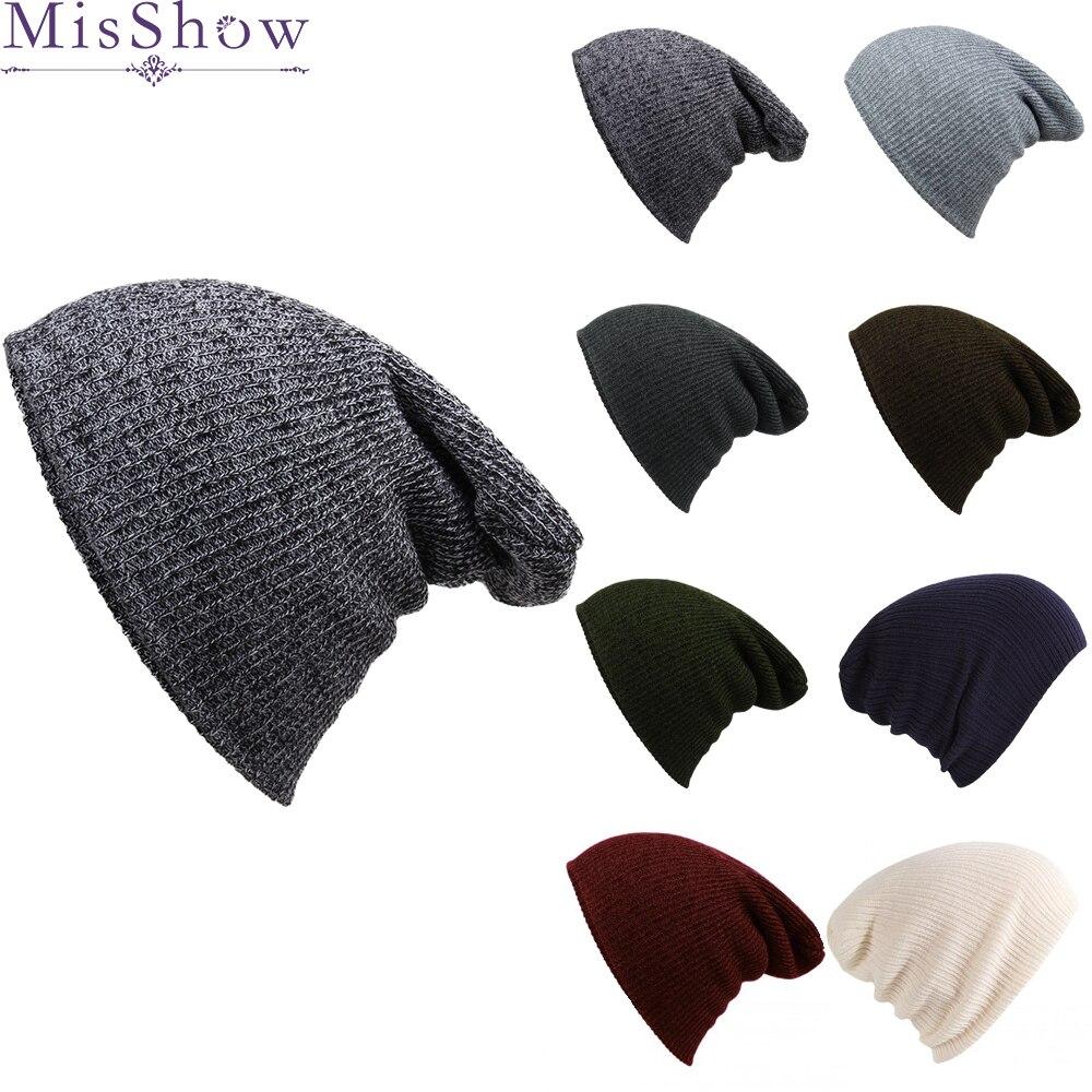 d1fb556982b Wholesale Price Women Winter Knitted Wool Cap Beanies Unisex Casual Hats  Caps Men Solid Color Hip-Hop Skullies Beanie Warm Hat