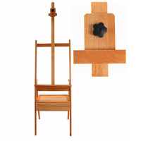 Beech Wood Easel For Painting Stand Adjustable Easel Display With Drawer SKU27703501