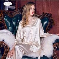 Womens Silk Satin Pajamas Set Pajama Pyjamas Set Sleepwear Loungewear All Seasons