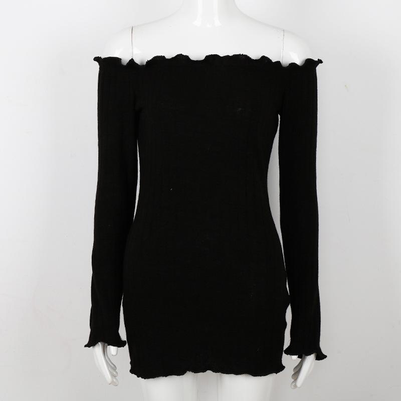 HTB1y0FfSFXXXXbWapXXq6xXFXXXA - FREE SHIPPING Women Sexy Off Shoulder  Bodycon Dress Knitted Elastic Sweater JKP304