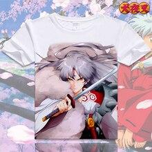 New Anime InuYasha Cosplay T-Shirt Short Sleeve O-Neck T-shirt Cotton T Shirt for Women/Men Summer Clothes Basic Tees S-XXXL цена и фото