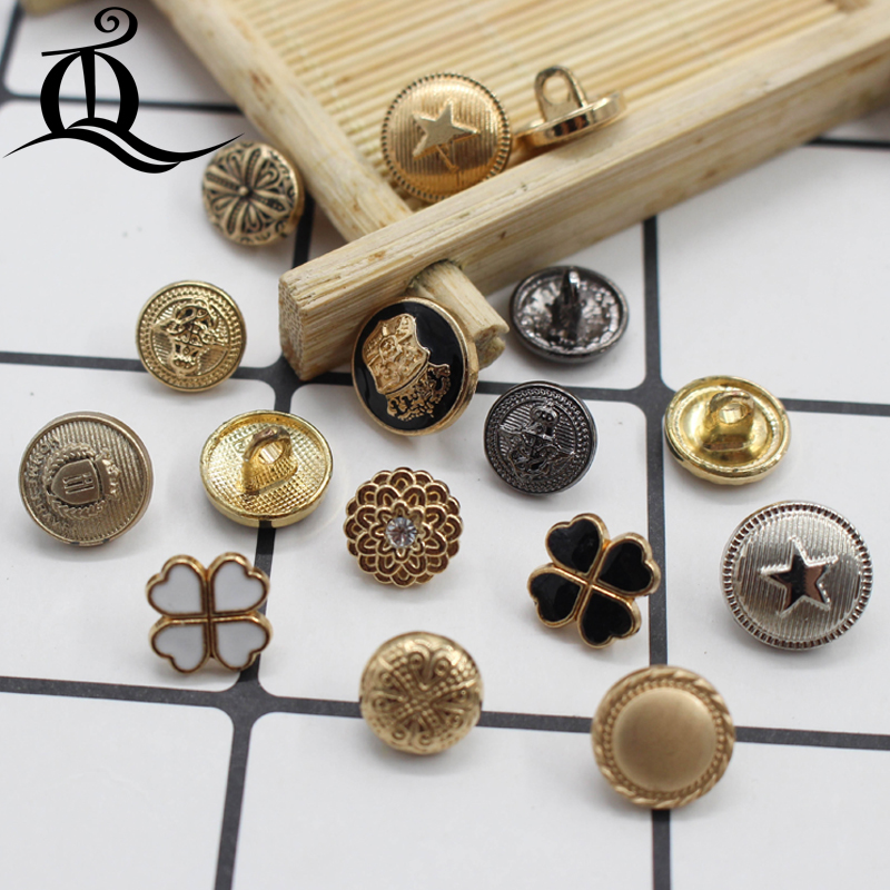 10-12mm Mix British Style High-grade Lion Metal Buttons Wheat Round Coat Jacket Sweater Clothing Garment Accessories Diy Mate Arts,crafts & Sewing