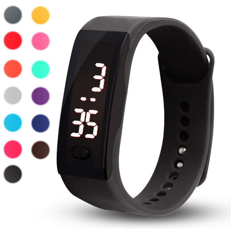 Mens Womens Rubber LED Watch Date Sports Bracelet Digital Wrist Watch relojes hombre Vintage Relogio Feminino Masculino Erkek Ko