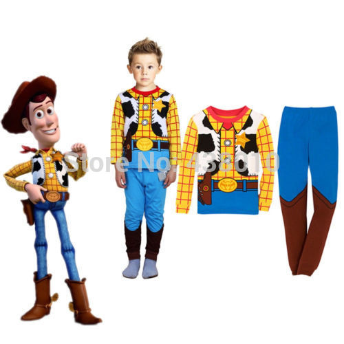 Hot sale The Hulk Toy Story Sheriff Woody Baby kids Boys Nightwear Sleepwear Pyjamas suits children's clothing set free shipping toy story 3 sheriff woody posable figure retail box t 020