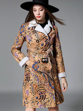 Wool Trench Coat Women Clothes 2019 Winter Warm Coat Female Windproof Print Double Breasted Fashion Trend British Style Slim vintage british detective cat women neko paw print tie double breasted brown cape cloak cute preppy style lolita outwear winter