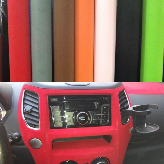 Car sticker 13550cm velvet fabric interior outside car film sticker auto upholstery membrane