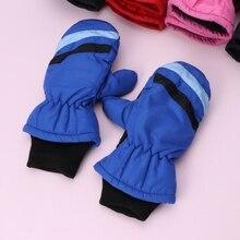 Детская рукавица для детей 2-5 лет, зимние теплые уличные перчатки для мальчиков и девочек, водонепроницаемые и ветрозащитные