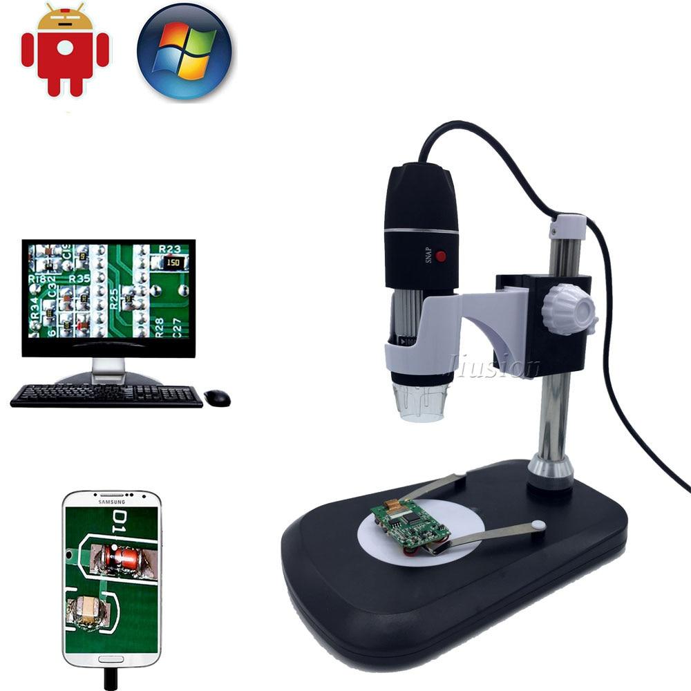 Digital Microscope Magnification Endoscope LED USB 2.0 Digital Microscope Mini Camera Magnification Endoscope Color : Black, Size : Free Size