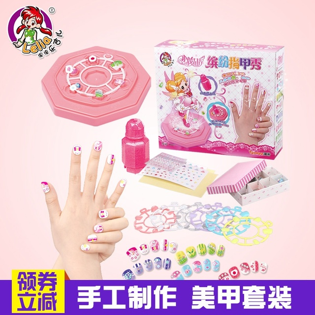 72pcs/lot child Flower Fairy nail art set decoration finger stickers ...