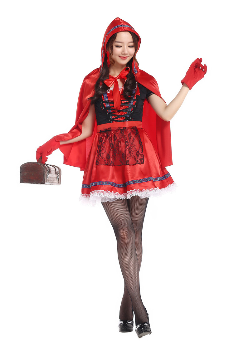 Hot Adult Women Halloween Costume Fairy Tale Little Red