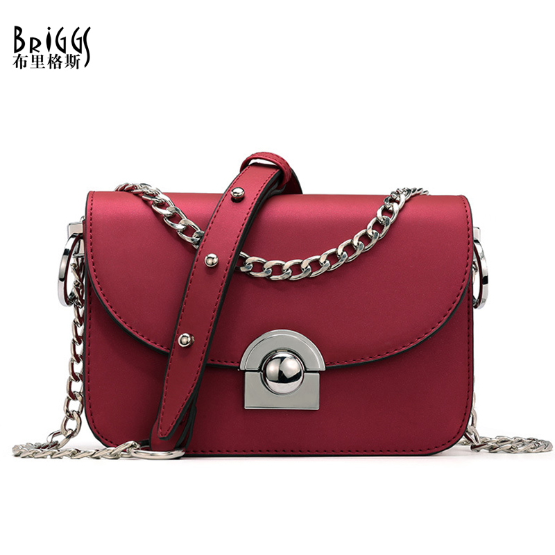 BRIGGS Party Flap Bag PU Leather Bags Ladies Small Messenger Bags Designer Chains Handbags High Quality Shoulder Bags For Women famous brand designer 2018 ladies small messenger bags women serpentine leather shoulder bag high quality chains crossbody bags