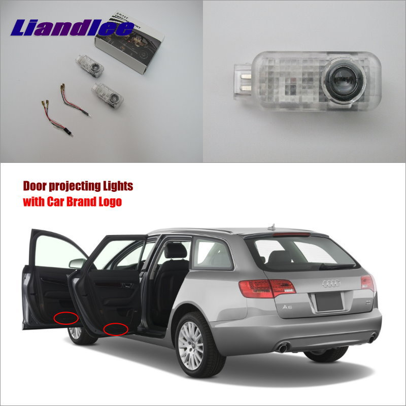 Liandlee Car Door Welcome Light Shadow LED Laser Projector Logo For Audi A4L 2009~2014 Courtesy Doors Lights Accessories Parts