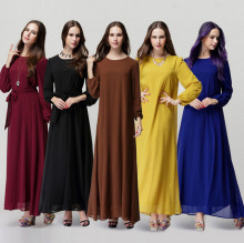 New Muslim Abaya For Women Fashion abaya dubai dress  Malaysian Dresses Arab Women Islamic Clothing Muslim Hijab Dress CS2555A