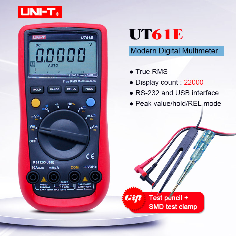 UNI T UT61E Trus RMS Digital Multimeter AC DC volt Ampere Ohm meter Capacitance Frequency Diode