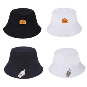Alimentos de Verano impreso Bucket sombreros Bob gorras algodón Sun Cap pesca  Hip Hop Unisex Panamá pescador playa hombres mujeres al aire libre gorro 95cb9d4afb7