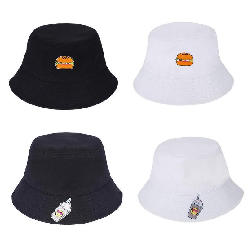 Summer Food Printed Bucket Hats Bob Caps Cotton Sun Fishing Cap Hip Hop Unisex Panama Fisherman Beach Men Women Outdoor Gorro