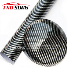 2D Black Silver twill carbon fiber film 2D glossy carbon fiber vinyl film Auto wrapping vinyl wrap foil car sticker color change(China)