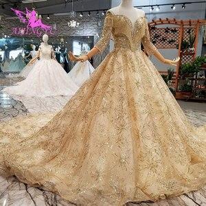 Image 4 - AIJINGYU luxe robe de mariée dentelle amour boutique en ligne chine irlande pas cher fabriqué en chine nouveau matériel de robe robes de mariée près de chez moi