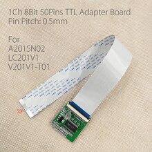 สำหรับA201SN02 LC201V1 V201V1 T01 LVDSเปิดTTLแผ่นอะแดปเตอร์0.5มม.50 Pin FFC FPC LVDS ConversionสำหรับV290 v56 LCDควบคุม