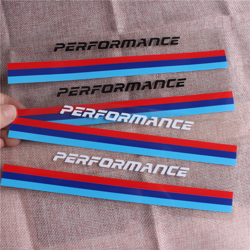 2pc Performance Motorsports Body Rearview Mirror Sticker Decal Car Styling For <font><b>BMW</b></font> <font><b>M3</b></font> M5 X1 X3 X5 X6 E36 E39 E46 E30 E60 <font><b>E92</b></font> f30 image
