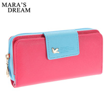Cute Bird-Decorated Leather Women's Wallet