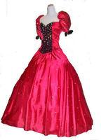 red crystal plus size GWTW SCARLETT GEORGIAN SATIN VELVET custom civil war ball gowns cap sleeve prom mother of the bride dress