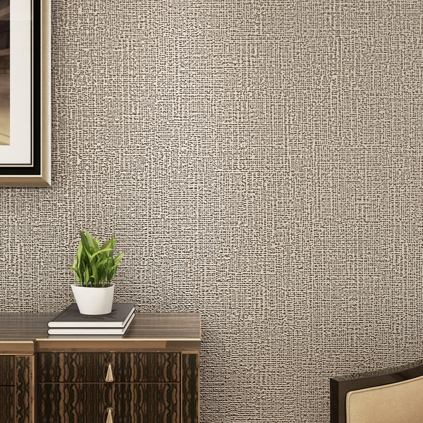 Moderne Simple plaine solide papier peint salon chambre papier peint pour murs 3D gris café Beige noir non-tissé papier peint - 2