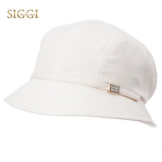 f3068c2755bcc SIGGI Women Sun Hat Summer bucket Cap chapeu feminino praia chapeau femme  for Girl foldable packable fashion elegant 89053