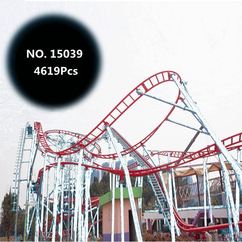 NEW 4619Pcs Building Blocks 15039 The Roller Funny Model Coaster Set Building Series Bricks Kids Toys City Model Gifts