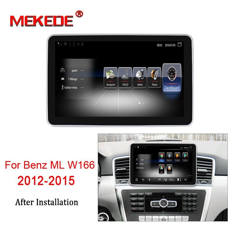 MEKEDE HD Android 7.1 pour Mercedes Benz M ML W166 GL X166 GLE autoradio moniteur multimédia GPS Navigation Bluetooth unité de tête