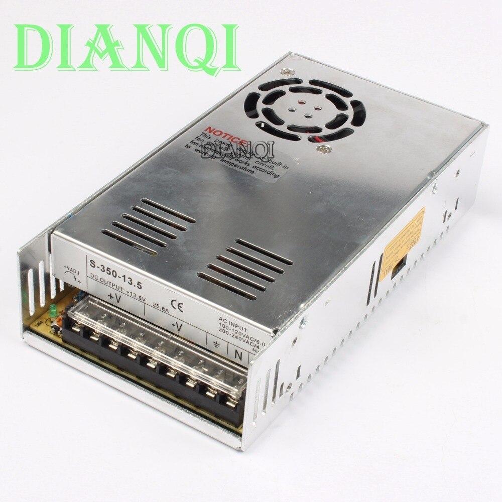 DIANQI power suply 13.5v 350w 25.8A ac to dc power supply ac dc converter  high quality S-350-13.5 original power suply unit ac to dc power supply nes 350 12 350w 12v 29a meanwell