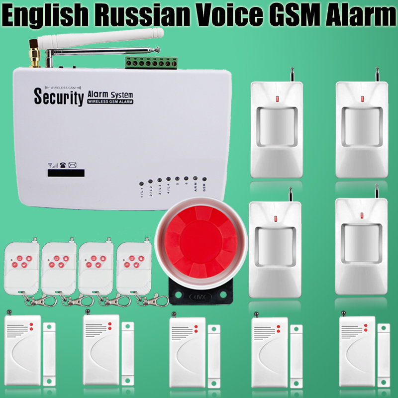 ФОТО Best price Tri band 900/1800/1900 MHz GSM home alarm system with PIR Motion Detector GSM Alarm System With Russian/english voice