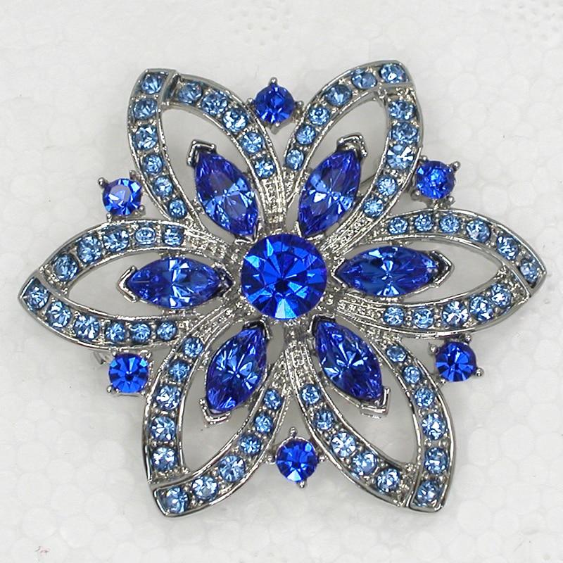 12pcs lot Wholesale Fashion Brooch Rhinestone Flower Pin brooches Jewelry Gift C101763
