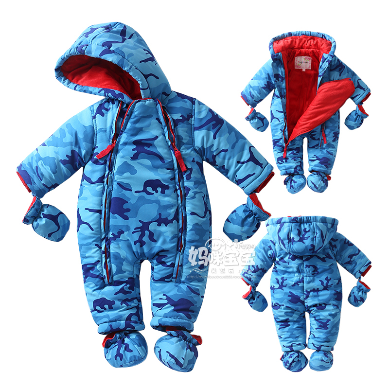 0-24M 2016 Newborn Clothes baby boy romper long-sleeve Flannel Fabrics jumpsuit baby boy Camouflage patterns clothes