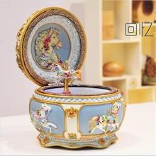 Carousel music box with light emitting Sound-operate sankyo creative birthday gift to send his girlfriend Valentine's Day