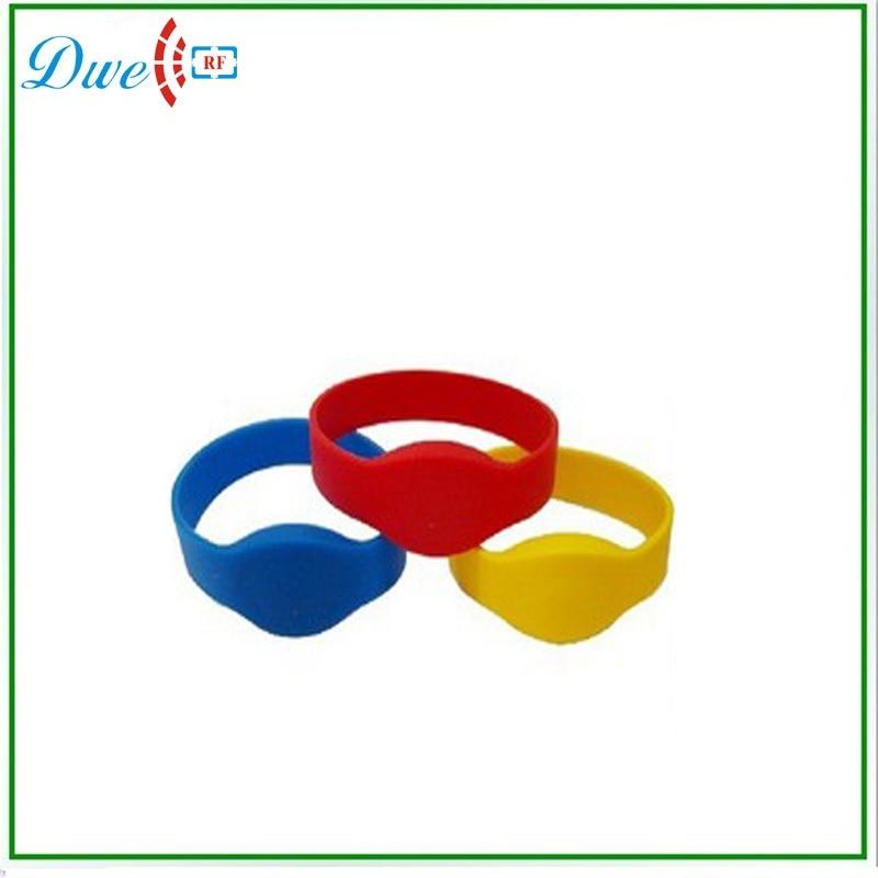 DWE CC RF 125khz proximity wristband 65mm soft rfid silicon wristband for ID access control reader turck proximity switch bi2 g12sk an6x