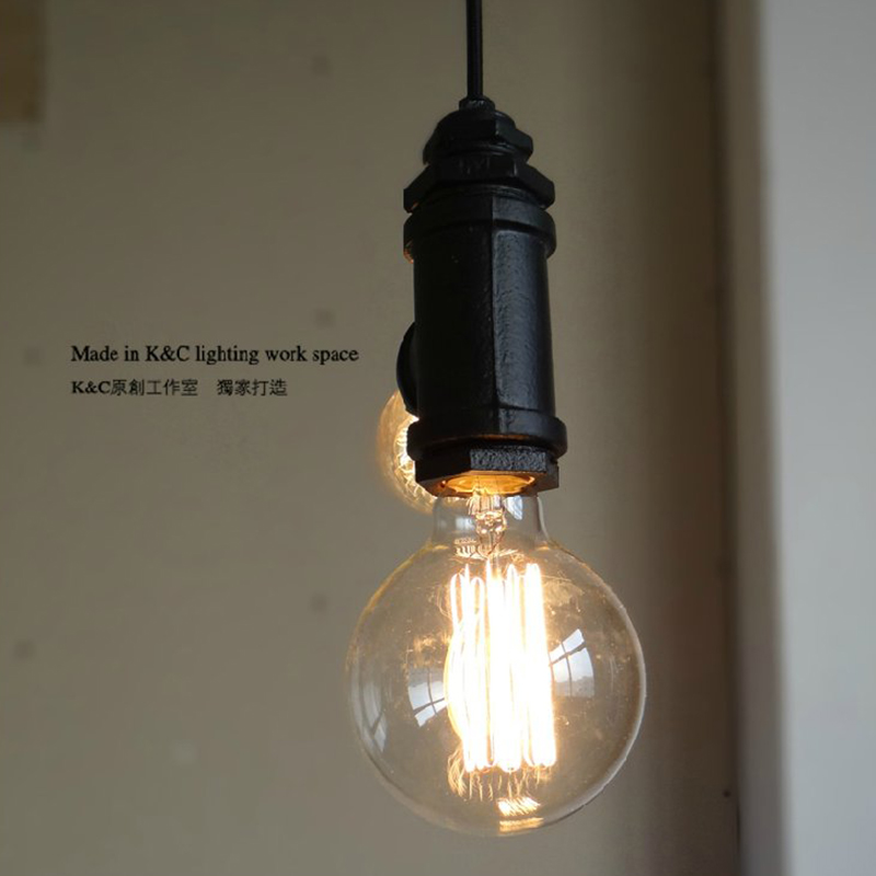 Retro restaurant bar hanging lamp act the role roofing loft personality decoration rural industrial pipe pendant light contemporary and contracted creative personality retro art glass chandelier cafe restaurant study lamps act the role of milan