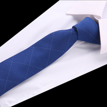 Solid Cotton Tie 6 cm Slim Striped Mens Casual Blue Black Skinny Ties Red Green Gray Necktie For Men Wedding fashion party