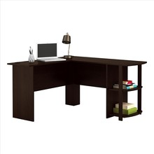 Melamine MDF Board Computer Desk PC Table with Drawer Black Dropshipping