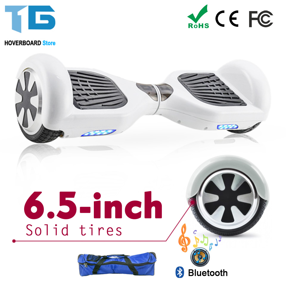 White Hoverboard Scooter Electric Moped 2 Wheel Balance Board Electric Skateboard Wheels Hoverboard 6.5 8 10 Inch