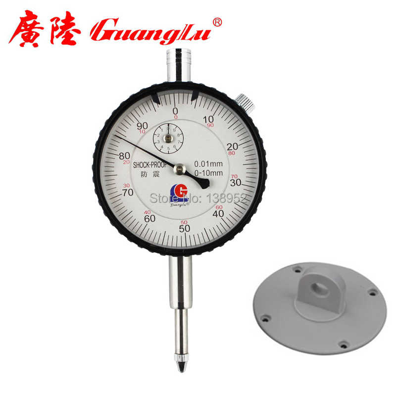 Guanglu brand 0-10mm 0 01mm Dial Indicator Shock Proof Dial Test Gauge with  Lug Back Precision Micrometer Measuring Tools