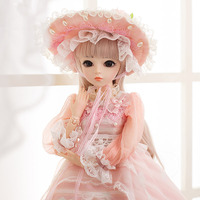 60CM BJD Dolls SD Doll With Outfit Elegant Dress Wigs Shose Hat Makeup Beautiful Dream Girls Toys KD Dolls Gifts for girls