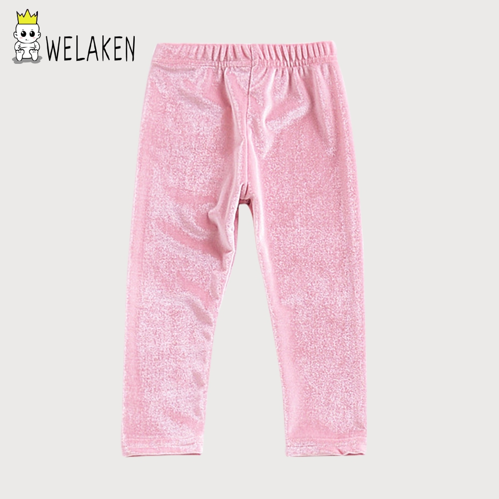 weLaken For 12M-4T Fashion Girls Trousers 2018 New Autumn Winter Softwear Children Clothe Girls Leggings Kids Stylish Long Pants